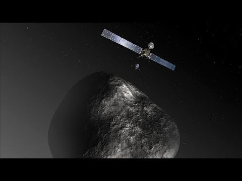 Rosetta Spacecraft En Route to Land Probe on a Comet