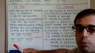 Clases de Ingles 10: TO DO Vs TO MAKE