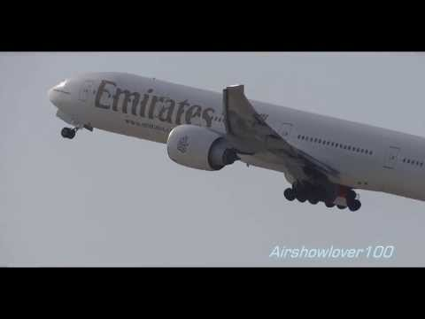 Emirates Boeing 777-300ER Sunset Takeoff LAX