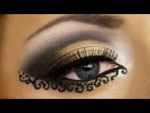 Lace Makeup Look Tutorial (Arabic makeup) / Арабский макияж