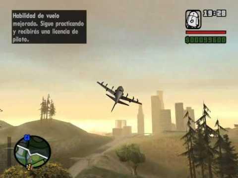 GTA SAN ANDREAS volando avión de cabeza