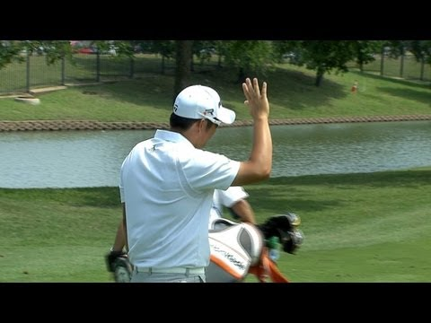 John Huh holes out from 162 yards during the 2013 HP Byron Nelson