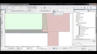 Работа с геометрической стеной в архикад