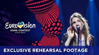 Luísa Sobral - Amar Pelos Dois (Portugal) EXCLUSIVE Rehearsal footage