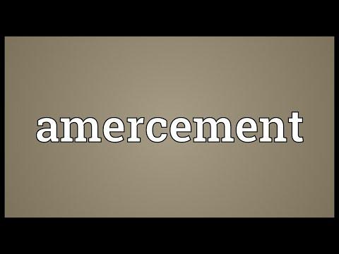 Header of Amercement