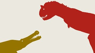 Pivot Animation - Sarcosuchus vs Carnotaur