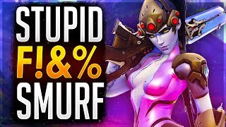 I Secretly Smurfed and made him RAGE! Overwatch Unranked to GM Flexing (Samito)