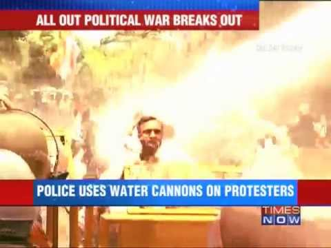 Congress protests outside BJP HQ