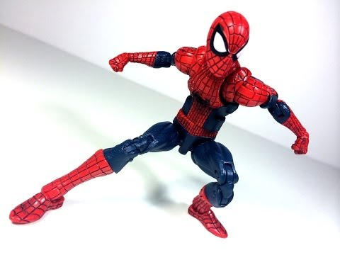 Amazing Spiderman 2 Legends Infinite Series Movie Spiderman Green Goblin BAF Toy Review