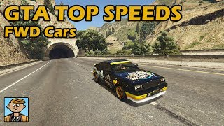 Fastest Front Wheel Drive Cars (2019) - GTA 5 Best Fully Upgraded Cars Top Speed Countdown