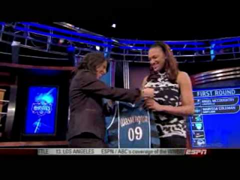 Washington Mystics Select Marissa Coleman #2 in the 2009 WNBA Draft Video