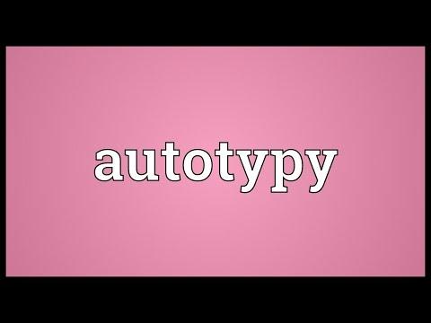 Header of autotypy