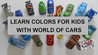 Learn Colors for Kids with World of Cars, McQueen, Tow Mater and friends