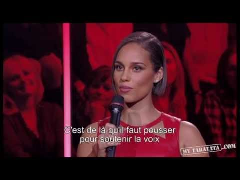 Alicia Keys - Interview - (Live On Taratata Nov 2012)