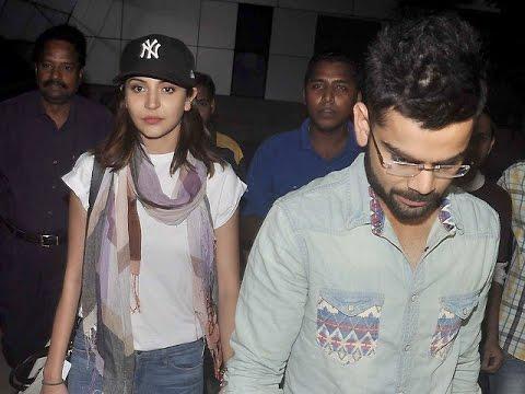 Virat Kohli & Anushka Sharma Spotted At The Mumbai Airport video