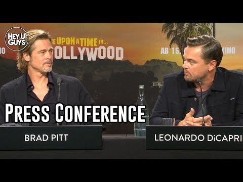 Once Upon a Time in Hollywood Press Conference - Pitt, DiCaprio, Tarantino, Robbie