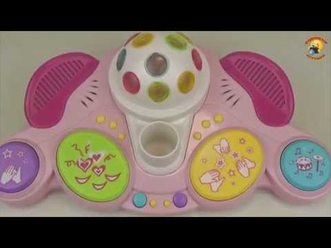 Детский микрофон с диско шаром. Игрушка для девочек / Children's microphone with disco ball