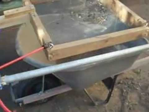 Redneck automatic dirt or soil sifter using a reciprocating saw. DIY. Homemade.