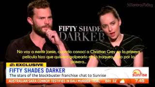Jamie Dornan y Dakota Johnson en Sunrise Interview Australia [Subtitulada]