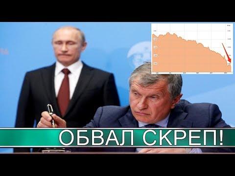 Кремль негодует! Рубль падает, акции дешевеют