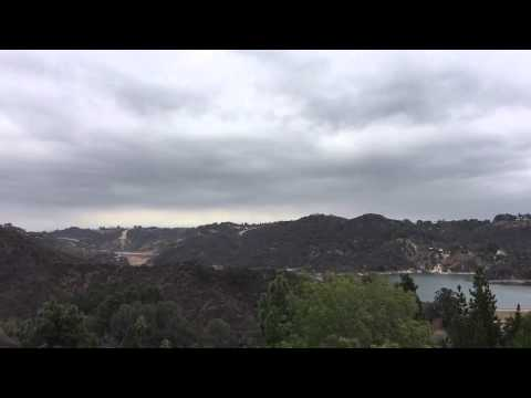 A beautiful cloudy day in LA overlooking the Bel Air Reservoir.