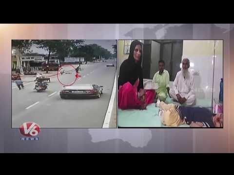 Caught On Camera | 5 Year Old Girl Hit By Speeding Car In Uttar Pradesh | V6 News