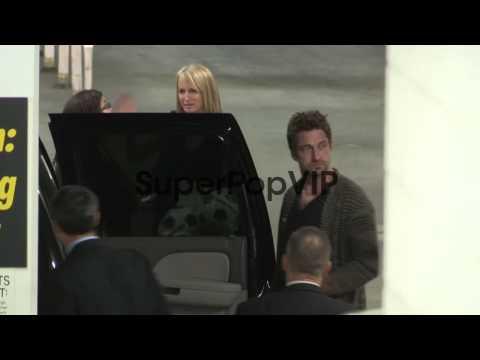 Gerard Butler and Madalina Ghenea depart Arclight in Holl…