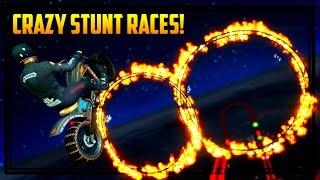 GTA 5 INSANE FIRE STUNT RACES! + WORLD'S FASTEST CAR! (GTA Online DLC)