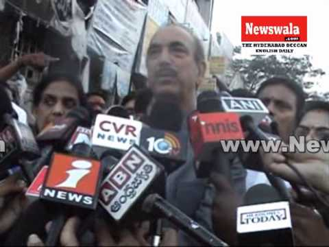 Gulam Nabi Azad visited Hyderabad and inspected the Dilsukhnagar bomb blasts site