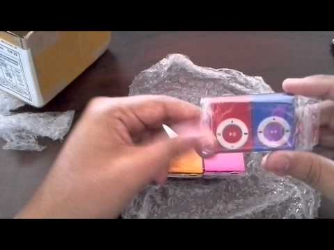 UNBOXING ALIEXPRESS #1 Lote de Mini Mp3 Player Shuflle Clip  IMPORTE AGORA