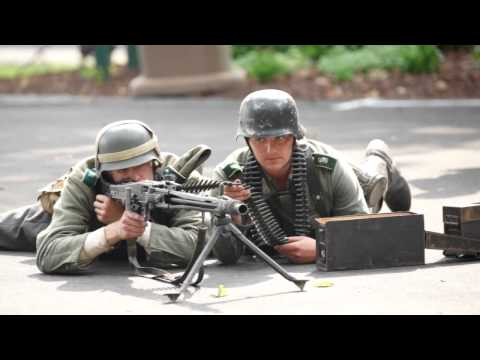 WW2 German MG42 Machine Gun Demonstration