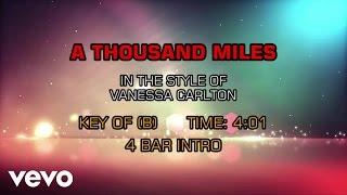Vanessa Carlton A Thousand Miles Karaoke