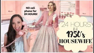 I Lived Like A 1950's HOUSEWIFE For 24 HOURS! | Emelyne