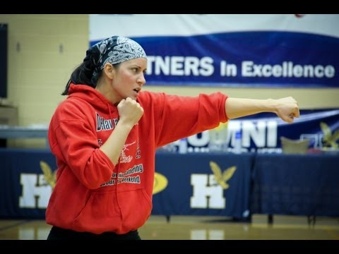 Olympic boxer Mary Spencer visits Humber