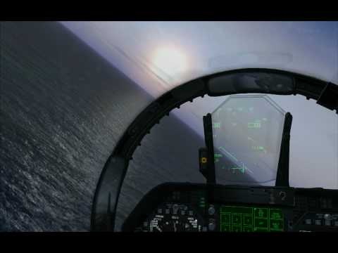 FSX   Carrier Landing Pattern and Trap with VRS F A 18E Superbug