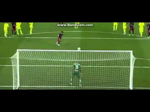 Messi Misses a Penalty Vs Levante - barcelona 4-1 Levante