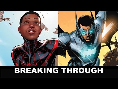 Miles Morales as Spider-Man & Batwing break Marvel / DC Comics Color Barrier!