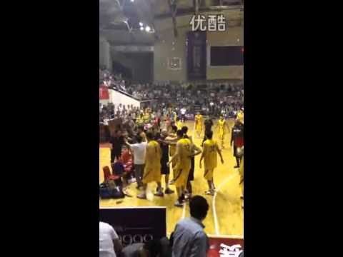 Basketball brawl in China - New Orleans Hurricanes vs. Zhejiang Lions
