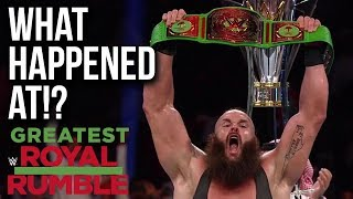 WHAT HAPPENED AT: WWE Greatest Royal Rumble 2018