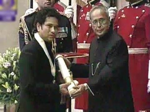 Live: Sachin Tendulkar receiving Bharat Ratna