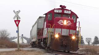 RJ Corman Railroad pulls out a storage train