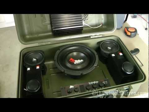 Old School Boombox — Car Audio Gear — Rockford Fosgate Audiophile Speakers 1080p