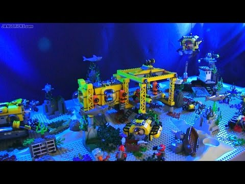 LEGO City Deep Sea Exploration scene - ALL 2015 sets!