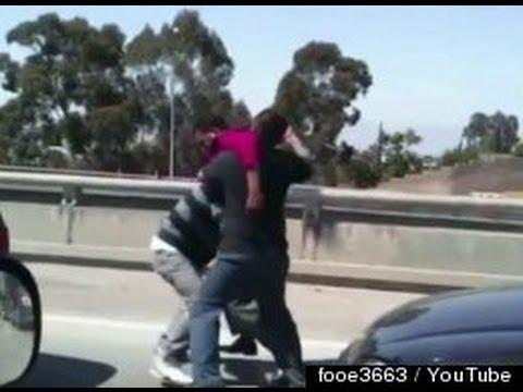 Road Rage Fight In LA (GRAPHIC Video)