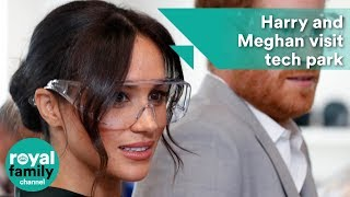 Harry and Meghan don goggles during visit to tech park