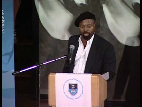 Ben Okri speaking at UCT