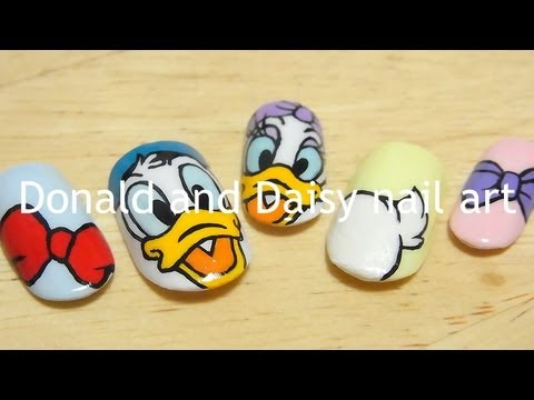 Donald And Daisy Nail Art