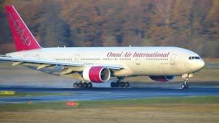 RARE! Omni Air International Boeing 777-200ER [N846AX] Landing at Berlin Tegel Airport [Full HD]