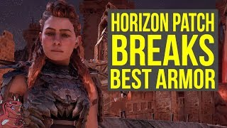 Horizon Zero Dawn Patch 1.30 BREAKS BEST ARMOR & More (Horizon Zero Dawn 1.30 - Shadow Stalwart)