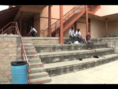 benicia high 12 stair ollie, 180, nollie, and kickflip attempts
